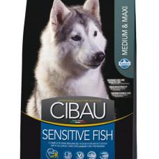 65313 FARMINA Cibau Sensitive Lamb Сухой корм для взрослых собак средних и крупных пород, 12 кг