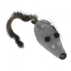 sh-07080 PETTO Игрушка Мышь M с норковым хвостом GoSi без уп. (хвост из натуральной норки), 6 см