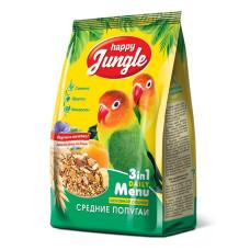 Happy Jungle Корм для средних попугаев, 500 г
