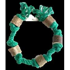 5163 Игрушка для птиц Гирлянда зеленая, 45 см