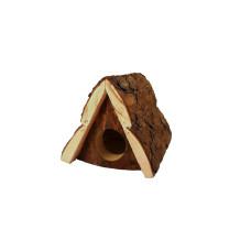 8666 Дарэлл ZooM Домик для грызунов из неокоренного дерева Шалаш 12*16,5*h12 см