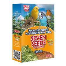 7 семян Просо для декоративных и певчих птиц 500 г