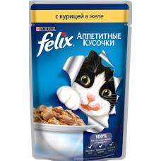 FELIX  Корм для кошек Аппетитные кусочки с курицей в желе 85 г