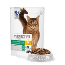 Перфект Фит для кастрированных котов и стерилизованных кошек с курицей, 2,5 кг