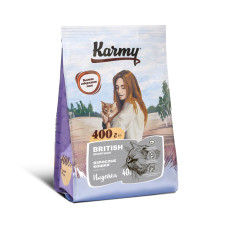 Karmy Корм для взрослых кошек породы Британская Короткошерстная, 400 г