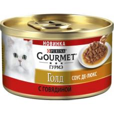 Гурме Голд Соус Де-Люкс с говядиной в роскошном соусе 85 г