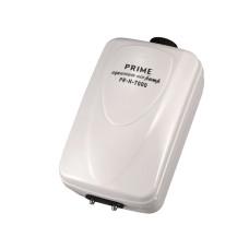 PRIME Компрессор PR-H-7000 двухканальный регулируемый, 10 Вт, 2*6 л/мин, глубина аквариума до 120 см