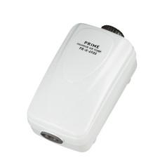 PRIME Компрессор PR-H-6900 двухканальный регулируемый, 2,5 Вт, 2*2 л/мин, глубина аквариума до 80 см