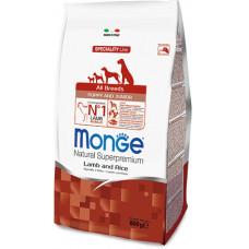Monge Dog Speciality Puppy&Junior корм для щенков всех пород с ягненком и рисом, 800 г