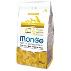 Monge Dog Speciality корм для взрослых собак всех пород с курицей, рисом и картофелем, 2,5 кг