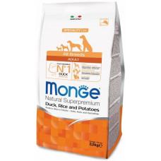 Monge Dog Speciality корм для взрослых собак всех пород с уткой, рисом и картофелем, 2,5 кг