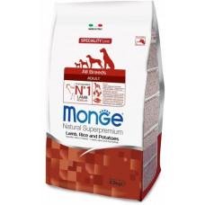 Monge Dog Speciality корм для взрослых собак всех пород с ягненком, рисом и картофелем, 2,5 кг