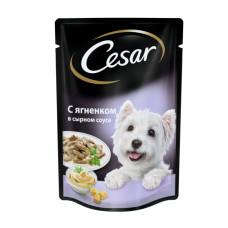 Цезарь Корм для собак консервированный Ягненок в сырном соусе 100 г