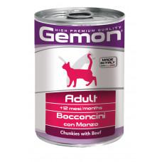 Gemon Cat консервы для кошек кусочки говядины 415 г