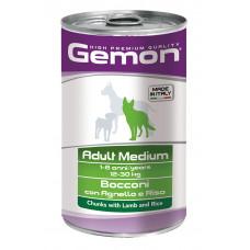 Gemon Dog Medium консервы для собак средних пород кусочки ягненка с рисом 1250 г