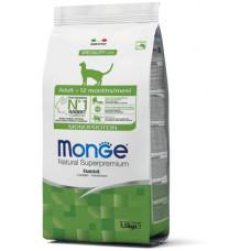 Monge Cat Monoprotein корм для взрослых кошек с кроликом 1,5 кг