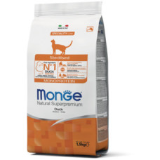 Monge Cat Monoprotein Sterilised корм для стерилизованных кошек с уткой 1,5 кг
