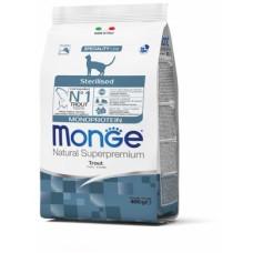 Monge Cat Monoprotein Sterilised корм для стерилизованных кошек с форелью 400 г