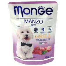 Monge Dog Grill Pouch паучи для собак с говядиной 100 г