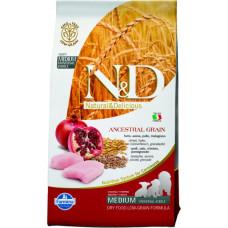 FARMINA N&D Корм низкозерн для щенков мелких пород, беремен.и кормящих,  с курицей и гранатом, 800 г