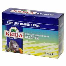 Кеша Ассорти Мультипак Зерносмесь для мышей и крыс 4*125 г