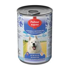 Родные корма Корм конс. для собак Говядина с потрошками в желе по-купечески 410 г