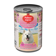 Родные корма Корм конс. для собак Птица с потрошками в желе по-московски 410 г
