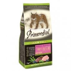 PRIMORDIAL Корм сухой беззерновой для котят с Уткой и индейкой, 400 г