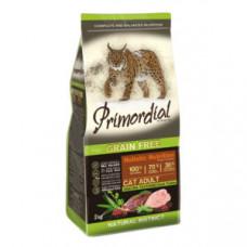 PRIMORDIAL Корм сухой беззерновой для кошек с Уткой и индейкой, 400 г