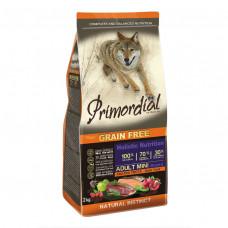 PRIMORDIAL Корм сухой беззерновой для собак мелких пород с Форелью и уткой, 400 г