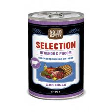 Solid Natura Selection Ягненок с рисом влажный корм для собак ж/б 0,97 кг
