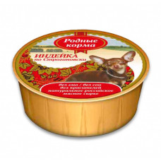 Родные корма Корм конс. для собак Индейка по-строгановски 125 г