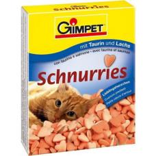 Gimpet Лакомство мультивитаминное Сердечки для кошек Лосось (1 табл)