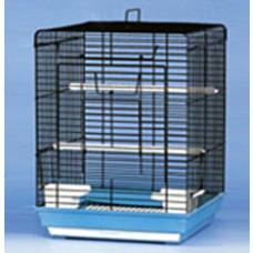1901 Клетка для птиц, цвет чёрный, верх открывается, 40*40*58 см