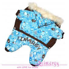 10998 Лимарджи Комбинезон зимний на синтепоне Perchi, голубой, мальчик, размер XS