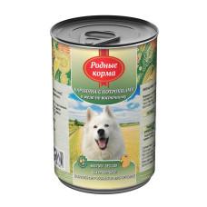 Родные корма Корм конс. для собак Баранина с потрошками в желе по-восточному 410 г