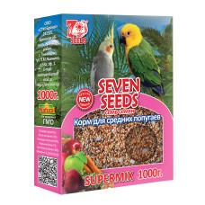 SUPERMIX 7 семян Корм для средних попугаев 1000 г
