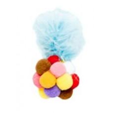 120 Игрушка для животных Разноцветный мягкий мячик с марабу, 12 см
