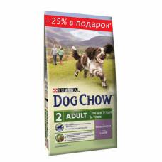 Дог Чау Корм сухой для щенков до 1 года с ягненком 2.5 кг + 500 г в подарок