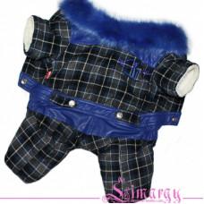 4480 Lim010627-2  Лимарджи Комбинезон зимний Hips LL, синий, мальчик, размер XS