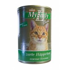 Др Алдерс Моя Леди Классик Корм для кошек Кусочки в соусе Индейка/Почки, 415 г