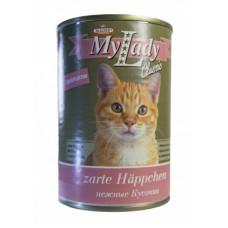 Др Алдерс Моя Леди Классик Корм для кошек Кусочки в соусе с Кроликом, 415 г