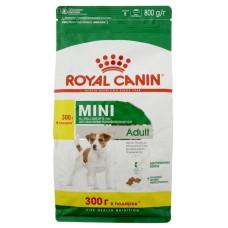 Роял Канин Корм Мини Эдалт для взрослых собак маленьких пород от 10 мес 0,5 кг + 300 г в подарок