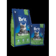 Brit Premium Cat Sterilised Корм сухой для стерилиз. котов и кошек Курицей и куриной печенью, 800 г