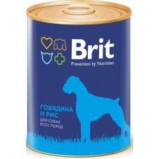 Brit Premium Beef & Rice Брит Корм консервированный для собак Говядина и рис, 850 г