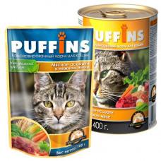 Puffins Корм для кошек Пикник Рыбное ассорти в желе, 85 г