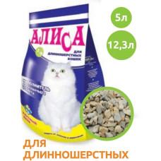 Алиса Наполнитель впитывающий для туалетов, для длинношерстных кошек 4,6 л