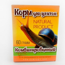 Аквакулинар Корм Комбинированный для декоративных улиток, 60 г