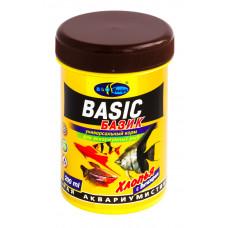Биодизайн БАЗИК - хлопья (flake), универсальный корм для всех видов рыб (банка) 250 мл/45 г
