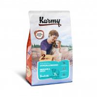 Karmy Гипоаллергенный Медиум и Макси Корм сухой для собак средних и крупных пород с Ягнёнком, 0,5 кг